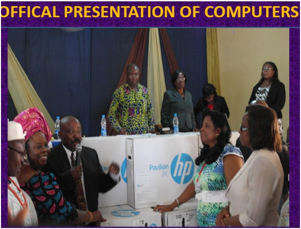 Official Donation of Computers
